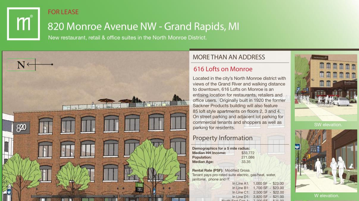 820 Monroe Ave part of 616 Lofts on Monroe